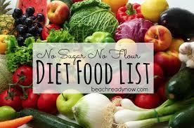 no sugar no flour diet food list