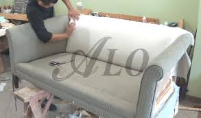 Diy Reupholster Ottoman by Diy How To Reupholster A Couch With Roll Arms Alo Upholstery