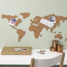 Pin Board Corkboard Map Self Adhesive Map Of The World
