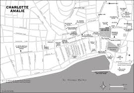 Charlotte Map Charlotte Amalie Cruise Port Map Image Gallery Hcpr
