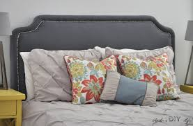 Diy Pillow Headboard Easy Diy Upholstered Headboard With Nailhead Trim Anika U0027s Diy Life