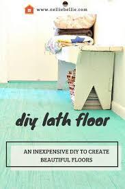 Inexpensive Flooring Ideas Cheap Flooring Idea Lath Floor Tutorial