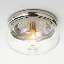 clear cloche glass bath light 2 light shades of light