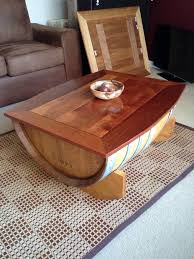 Wine Coffee Table How To Make A Wine Barrel Coffee Table Diy Projects For Everyone