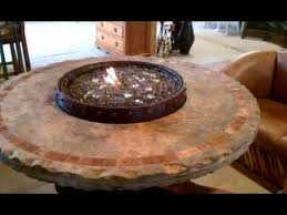wine barrel fire table wine barrel fire table travertine youtube