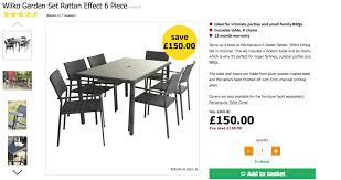 Wilko Garden Furniture Deals