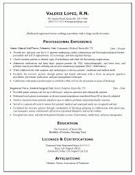 Sample Resume For Pediatric Nurse by Nurse Emergency Room Nurse Resume