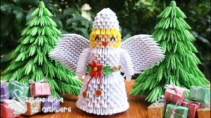 how to make 3d origami christmas angel diy paper christmas angel