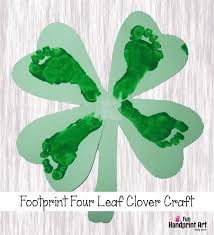footprint 4 leaf clover st patrick u0027s day craft for kids fun