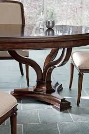 stanley pedestal dining table avalon heights art epoch oval double pedestal dining table by