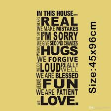 large size family house rules quotes and sayings stickers wall the size for our wall sicker refers images shown effect chart reference only please carefully refer