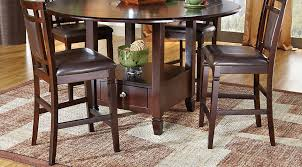 landon chocolate 7 pc counter height dining set dining room sets