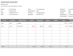 Company Expense Report Template by Business Expense Report Office Templates