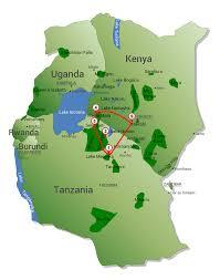 Lake Victoria Map 7 Day Tanzania And Kenya Serene East Africa Safaris