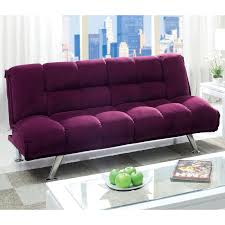 furniture of america delisle futon sofa purple hayneedle