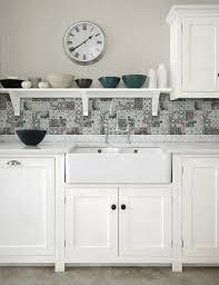 kitchen patchwork backsplash for country style kitchen ideas