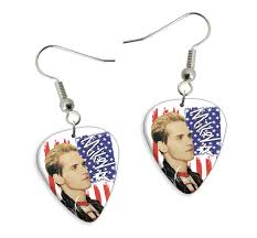 my chemical earrings printed guitar picks shop products band products earrings