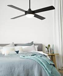 Black Light In Bedroom Futura Eco 132cm Fan With Led Light In Black Ceiling Fans With