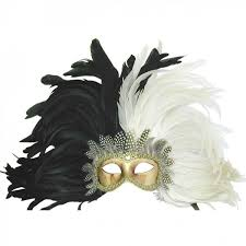 black venetian mask venetian mask in london for black and white royal feathered