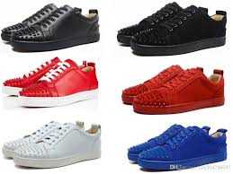 new men and women designer sneakers 2017 famous brand red bottom