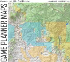 Colorado Hunting Units Map by Game Planner Maps Home Facebook