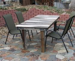 Outdoor Furniture Made From Pallets Dining Tables Appealing Diy Outdoor Dining Furniture Table Plans