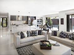 Open Plan Kitchen Flooring Ideas Open Concept Floor Plan With Large Rectangular Kitchen Counter