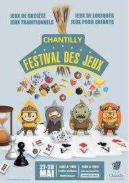 poster pour enfant festival des jeux de chantilly