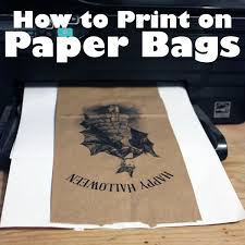 printable paper bags how to print on brown paper bags green craft technique the