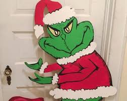 grinch stealing lights etsy