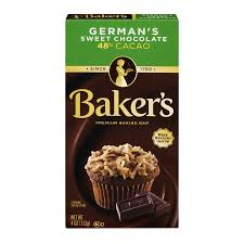 baker u0027s baking chocolate bar 48 cacao german u0027s sweet 4 oz