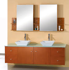 Bathroom Vanities Maryland Abodo 72 Inch Modern Bathroom Vanity Glass Top Honey Oak Finish