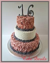 sweet 16 cakes dusty rosette sweet 16 cake on we heart it