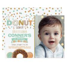 donut birthday party invitations u0026 announcements zazzle