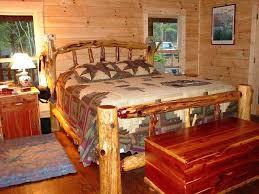 Wood Log Bed Frame Cedar Bed Frame Brunofelixarts