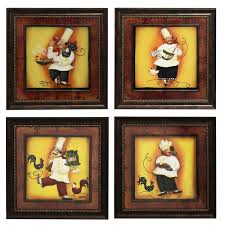 Chef Decor Collection Chef U0027 Framed 3d Metal Wall Art Set Of 4 Free Shipping Today