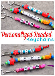 personalized beaded keychains keychains beads and craft