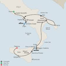 Map Of Capri Italy by Italy Tours Globus Italy Vacation Packages