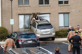 car crashes into building on executive blvd montgomery county