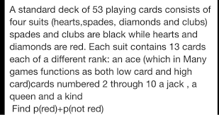 suppose we draw one card from a standard deck wha chegg com