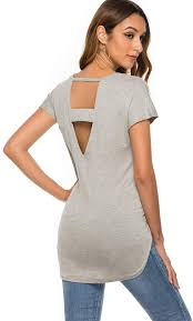 how to cut out the back of a cabinet simplefun womens casual v cut out back sleeve shirts soft active tops