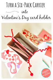 s day cards for school diy s day card box holder from six pack carrier box