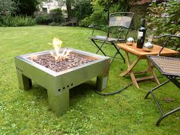 Diy Gas Fire Pit by Exterior Rounded In Ground Fire Pit Which Combined With Lacquered