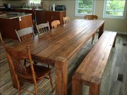 kitchen popular rustic wood dining room table with warm and