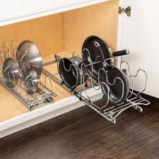lynk under cabinet storage lynk professional roll out pan lid holder pull out kitchen cabinet
