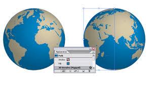 world map globe image create a rotatable globe in adobe illustrator