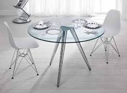 Glass Circular Dining Table Circular Glass Table And Chairs Nurani Org