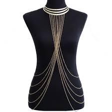 collier dos nu achetez en gros or corps collier en ligne à des grossistes or