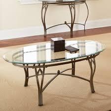 Coffee Table Wood And Glass Steve Silver Madrid Oval Glass Top Coffee Table Walmart Com