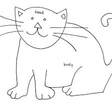 tag for cat drawings easy simple cute cat drawings drawing line